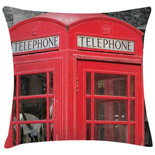Digital Prints Decorative Pillow - Phonebooth