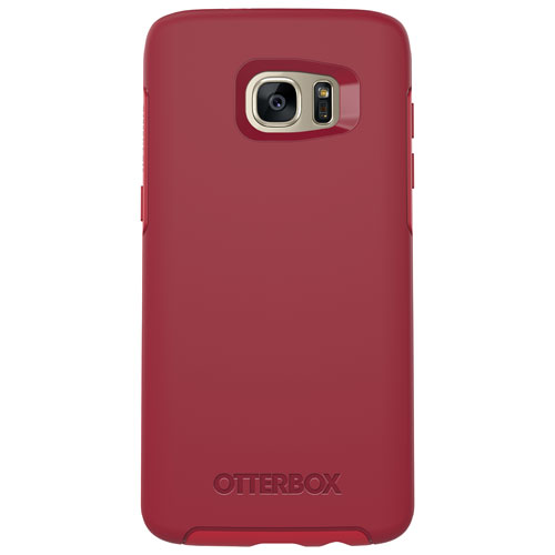 OtterBox Symmetry Samsung Galaxy S7 Edge Fitted Hard Shell Case - Red