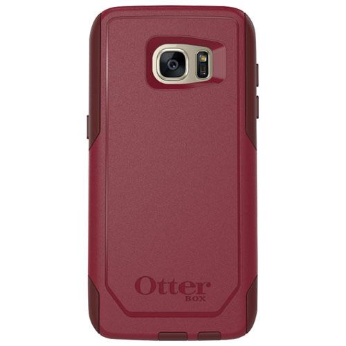 Étui souple ajusté Commuter d'OtterBox pour Galaxy S7 Edge de Samsung - Rouge