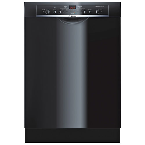 "Bosch Ascenta 24"" 50 dB Dishwasher with Stainless Steel Tub (SHE3AR76UC) - Black"