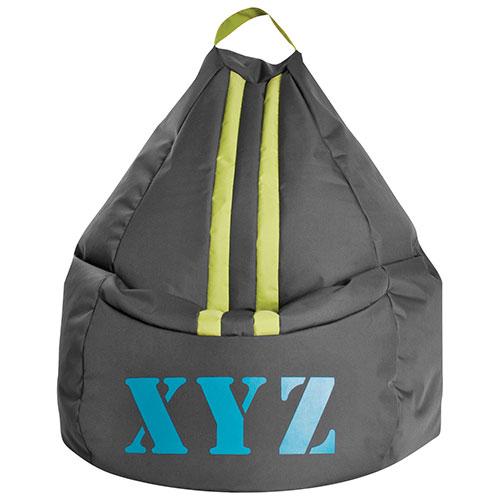 XYZ XL Contemporary Bean Bag Chair - Grey
