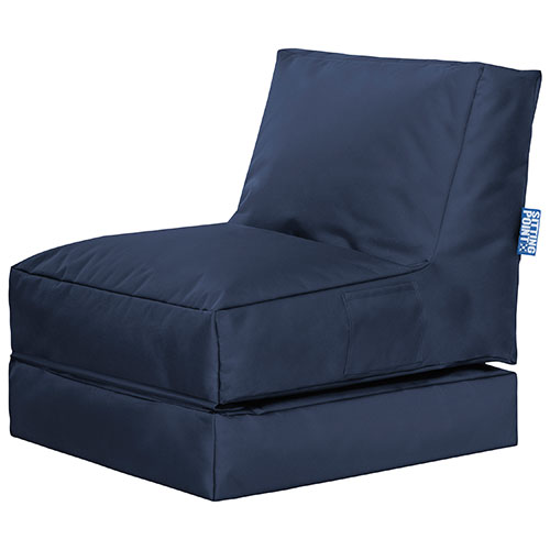 Twist Contemporary Convertible Bean Bag Chair - Navy