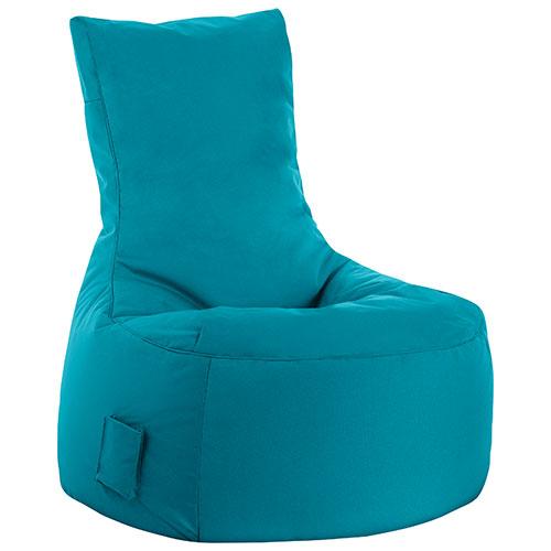 Fauteuil poire contemporain Swing - Turquoise