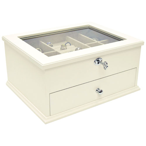 Gunther Mele Lili Wood Jewelry Box Off White Jewelry Boxes