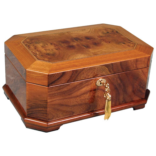 Gunther Mele Madison Burke 150th Anniversary Wood Jewelry Box Rich