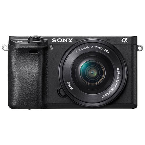 Appareil photo sans miroir OSS a6300 de Sony avec objectif 16-50 mm