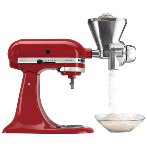 KitchenAid Grain Mill Stand Mixer Attachment : Stand Mixer ... on blendtec grain mill, vitamix grain mill, magic mill grain mill, food grinder grain mill, family grain mill, cuisinart food mill, motorized grain mill, chinese grain mill, hobart grain mill, country grain mill, bosch grain mill,