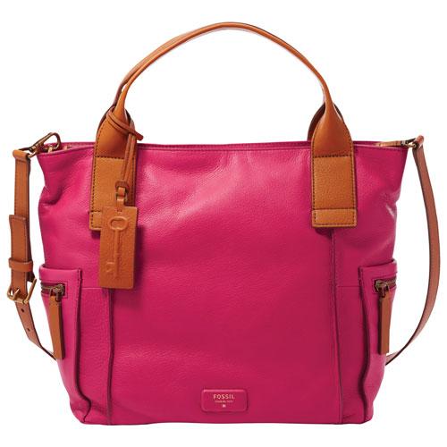 Fossil Emerson Leather Satchel Bag - Pomegranate : Satchel Bags ...