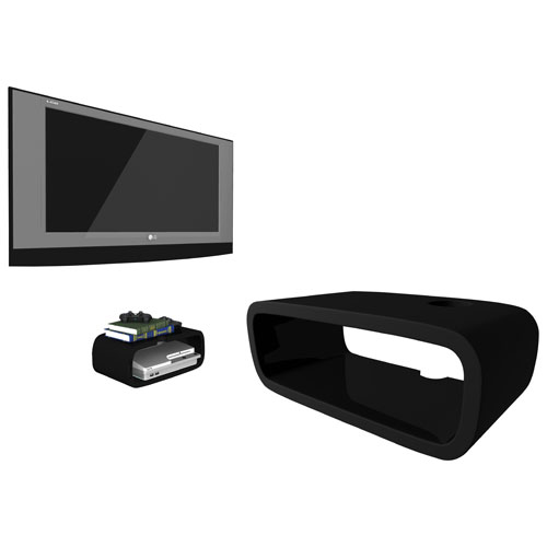 Sky Shelf Wall-Mounted Game Console Shelf - Black