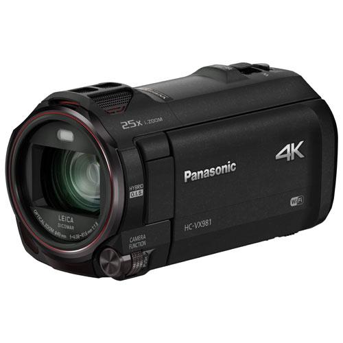 Caméscope 4K à mémoire flash HC-VX981K de Panasonic