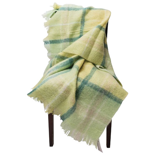 The St. Pierre Home Lewe Mohair Throw Blanket - Green