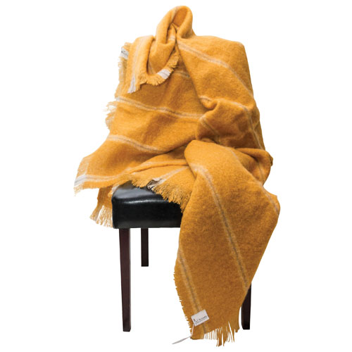 The St. Pierre Home Kerrie Mohair Throw Blanket - Curry