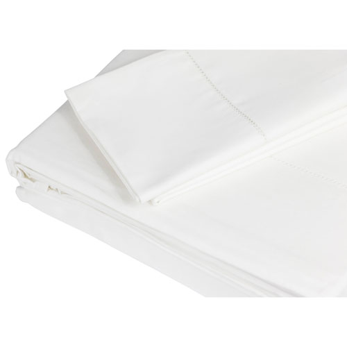The St. Pierre Home 4-Piece 350 Thread Count Cotton Bed Sheet Set - King - Ivory