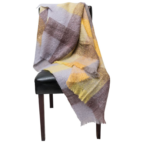 The St. Pierre Home Sondang Mohair Throw Blanket - Yellow
