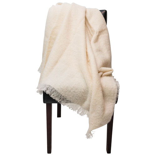 Enjoyable The St Pierre Home Swan Mohair Throw Blanket Ivory Bralicious Painted Fabric Chair Ideas Braliciousco