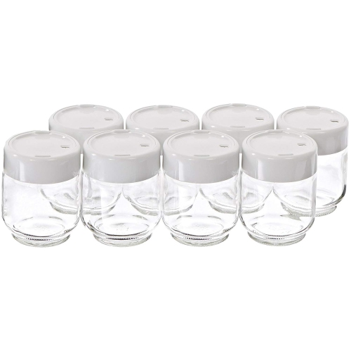 Euro Cuisine Yogurt Maker Glass Jars with Date - Set of 8