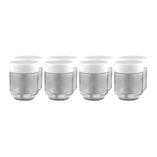 Euro Cuisine Yogurt Maker Glass Jars - Set of 8