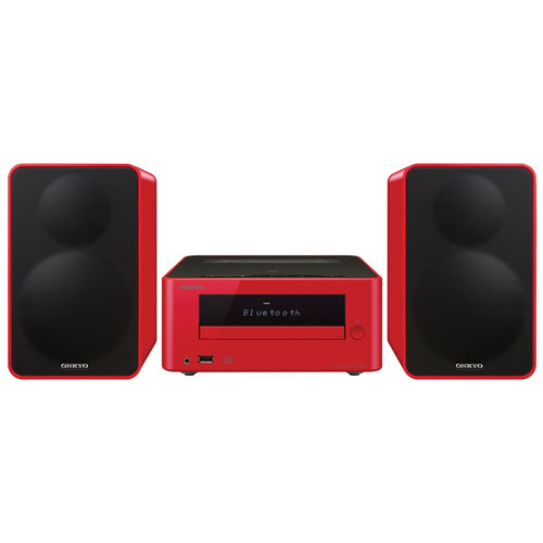 Onkyo CS-265 Mini CD Hi-Fi System with Bluetooth - Red
