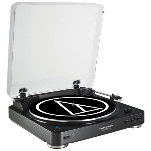 Tourne-disque Bluetooth d'Audio-Technica (AT-LP60BK-BT) - Noir