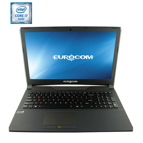 "EUROCOM Shark 5 15.6"" Gaming Laptop - Black (Intel Core i7 6700HQ/500GB HDD/4GB RAM/Windows 10) - Eng"