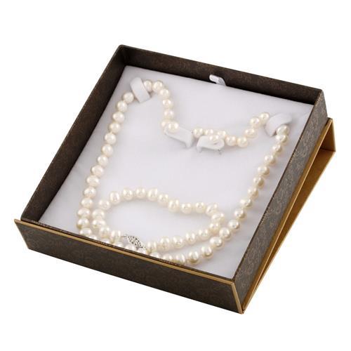Splendid Pearls Necklace, Earrings and Bracelet Set (Pearl)