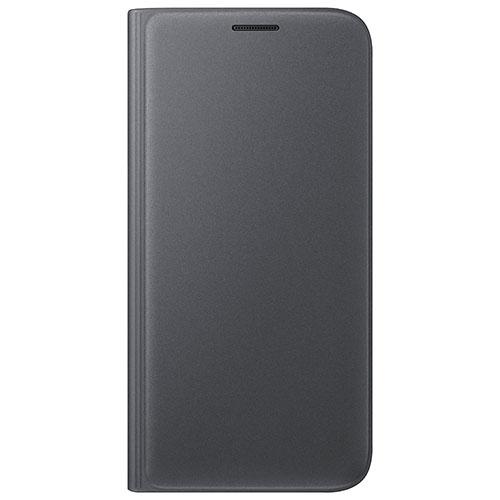Samsung Galaxy S7 Flip Wallet Cover Case - Black