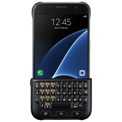 Samsung Galaxy S7 Fitted Hard Shell Keyboard Cover - Black