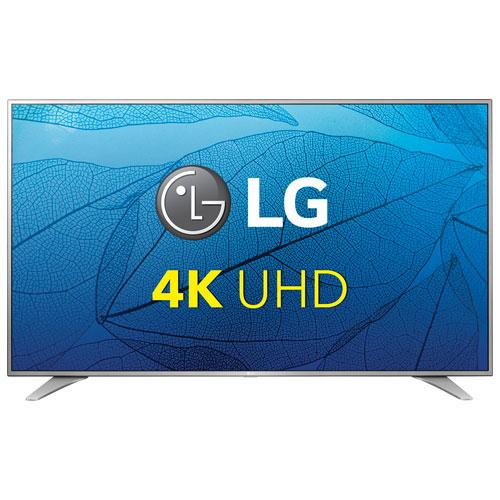 Téléviseur intelligent webOS 3.0 DEL HDR UHD 4K de 60 po de LG (60UH6550) - Argenté chromé