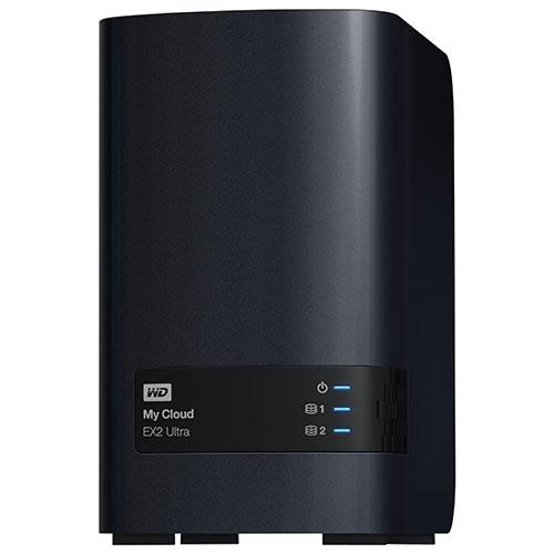 Dispositif de stockage en réseau My Cloud EX2 Ultra de 16 To de WD (WDBVBZ0160JCH-NESN)