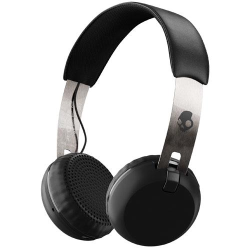 Skullcandy Grind On-Ear Sound Isolating Bluetooth Headphones (S5GBW-J539) - Black/Chrome
