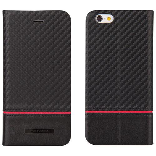Viva Madrid Grafito iPhone 6/6s Leather Holster Case - Black/Red
