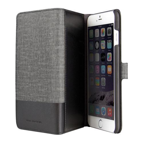 Étui portefeuille en cuir Urbano de Viva Madrid pour iPhone 6/6s Plus - Noir