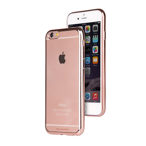 Viva Madrid Metalico iPhone 6/6s Plus Soft Shell Case - Rose Gold