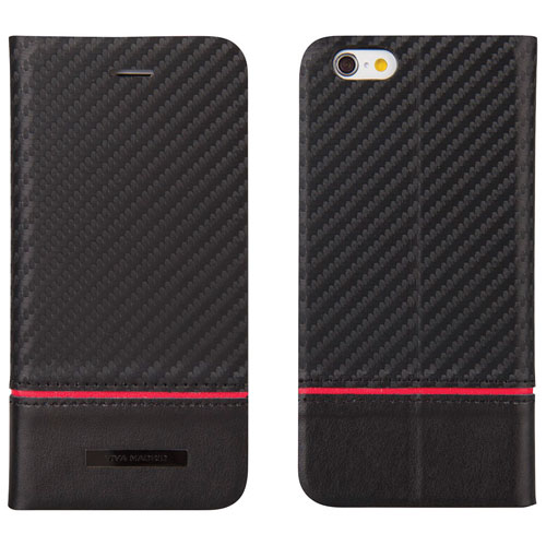 Viva Madrid Grafito iPhone 6/6s Plus Leather Holster Case - Black/Red