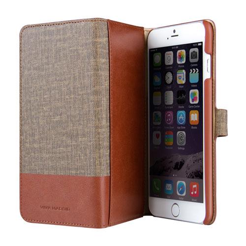 Viva Madrid Urbano iPhone 6/6s Plus Leather Wallet Case - Brown
