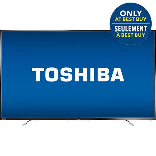Téléviseur DEL UHD 4K 65 po Chromecast de Toshiba (65L621U) - Noir - Exclusivité Best Buy