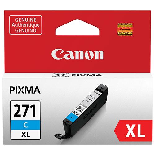 Cartouche d'encre cyan CLI-271 XL de Canon