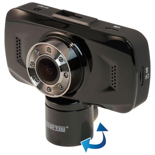 """The Original Dash Cam Twister 1080p Dual Lens Dashcam with 2.7"""" Screen and 8GB MicroSD (4SK909)"""