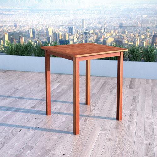Table de bar carrée contemporaine Miramar - Brun cannelle