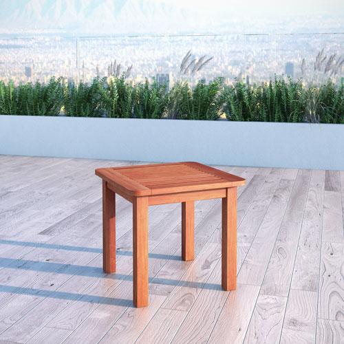 Table d 39 appoint carr e contemporaine miramar brun - Table d appoint carree ...