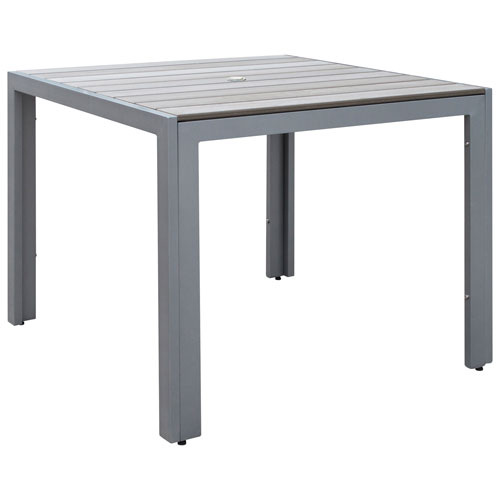Gallant Contemporary 4 Seating Square Outdoor Dining Table   Sun Bleached  Grey
