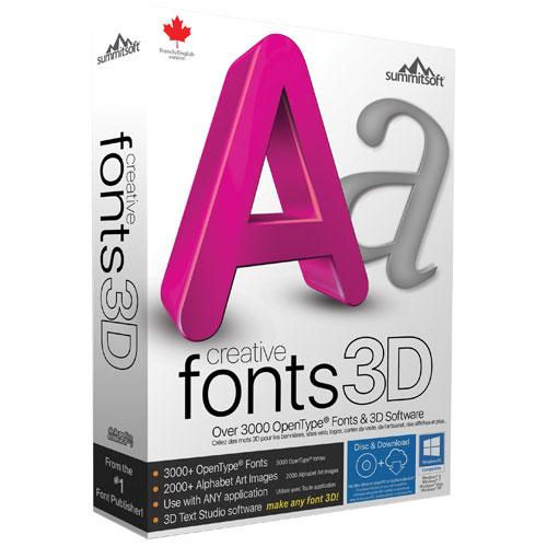 Creative Fonts 3D de Summitsoft