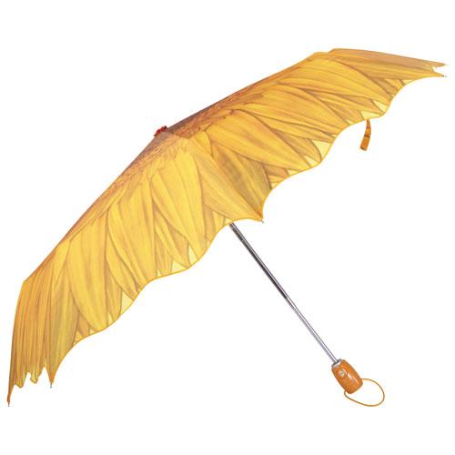 Austin House Telescopic Floral Folding Umbrella - Yellow