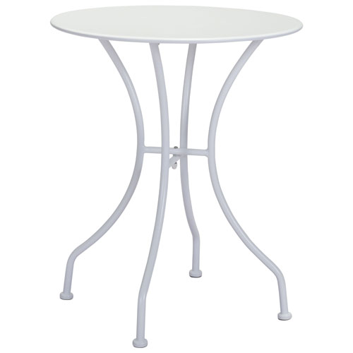 Oz Modern 2-Seating Round Dining Table - White