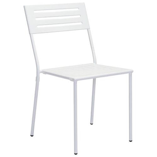 Chaise de table de patio moderne Wald - Ensemble de 2 - Blanc