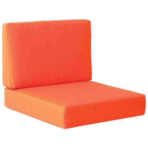 Cosmopolitan II Modern Arm Chair Cushions - Orange