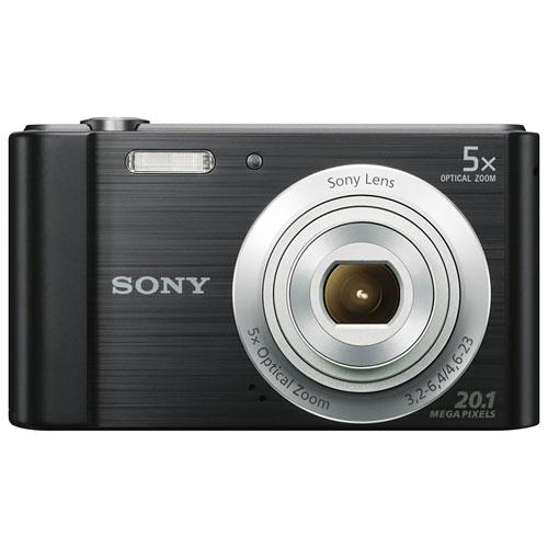 Sony Cyber-shot W800 20.1MP 5x Optical Zoom Digital Camera - Black