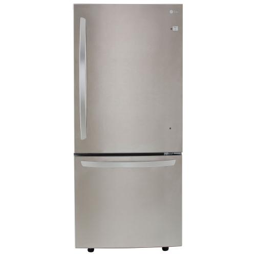"LG 30"" 22.1 Cu. Ft. Bottom Freezer Refrigerator with LED Lighting - Stainless Steel"