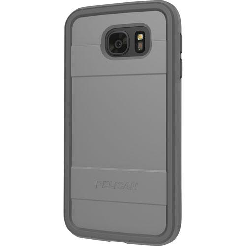 Étui-coque rigide ajusté ProGear Protector de Pelican pour Galaxy S7 de Samsung - Noir - Gris