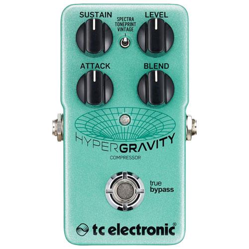 Pédale de compression pour guitare Hyper Gravity de TC Electronic